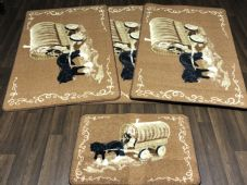Non Slip Washable Gypsy Romany Travellers/ Mats Sets 4Pc Horse And Wagon More Colours Available (2) (4)